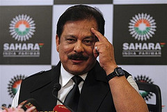 SEBI orders freezing of all  properties owned and held by Sahara firms.