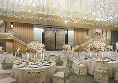 Luxurious interiors of Antilla, Mukesh Ambani's home.