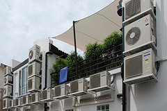 Sales of air conditioner improves with the rise of office space demand.