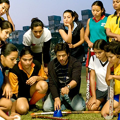A still of Chak De! India, the film which made Bollywood actress Sagarika Ghatge what she is today.