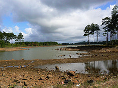 Water shortage severely affects construction.